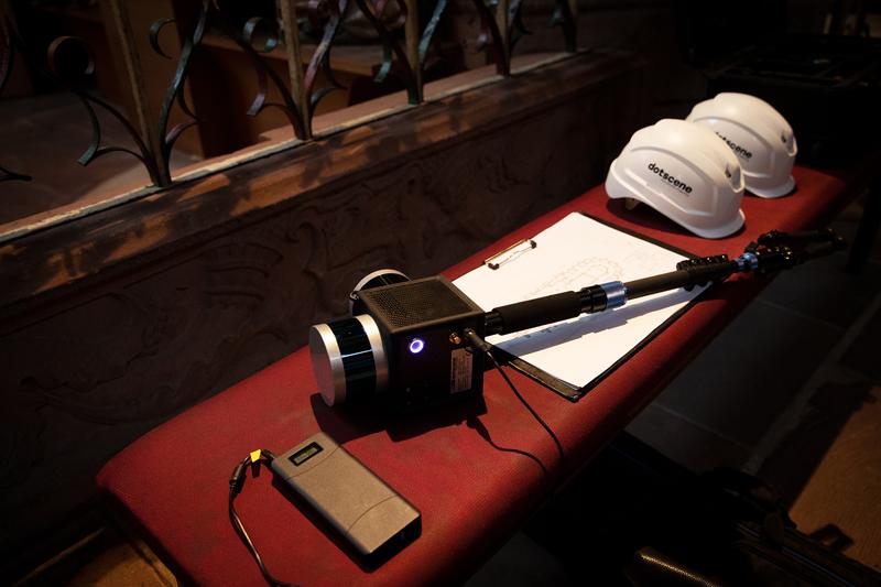 Der mobile 3D-Laserscanner dotcube liefert bis zu 600.000 Messpunkte pro Sekunde